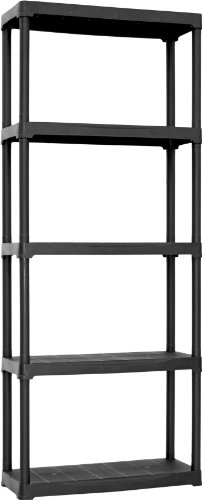 Art Plast T70/5 Scaffale in plastica, negro, 70x30x175,5 cm