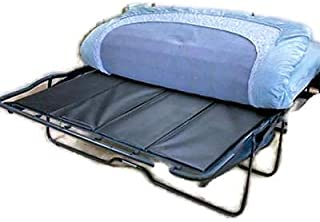 SRETAN Sofa Bed Bar Shield Black BLue Wood Composites PVC Sleeper Folding Support Board For Under Mattresses Living Room Twin Full Queen Size 48-60 x 28-60 x 0.25 inch (Full Open: 48 x 48 x 0.25 inch)