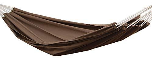 AMANKA XXL 2 Personen Hängematte Braun 400x160cm Belastbarkeit bis 150 KG 100% Baumwolle Mehrpersonen Hängematten