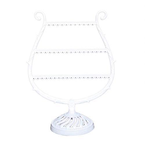 kerryshop Caja de joyería Organizador de Pendiente en Forma de Arpa/Soporte de joyería Display Soporte de Rack Organize Dangle and Hoop Pendientes Almacenamiento Joyería Organizador Regalo Joyero