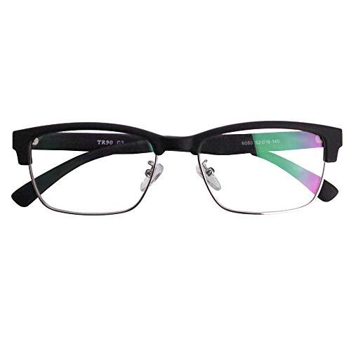SHOWA 遠近両用メガネ TRクラシック ウェリントン (マットブラック) (メンズセット) 全額返金保証 境目のない 遠近両用 眼鏡 老眼鏡 おしゃれ メンズ 男性 リーディンググラス (瞳孔間距離:66mm〜68mm, 近くを見る度数:+2.0)