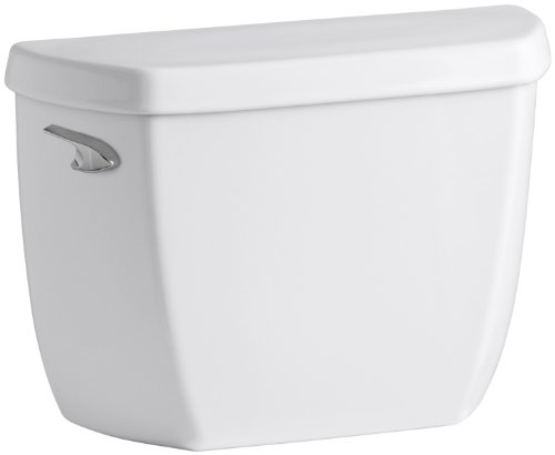 KOHLER K-4436-0 Wellworth 1.28 gpf Toilet Tank with Class Five Flushing Technology, White