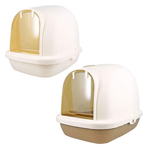 iCat ドーム型猫トイレ スコップ付き アイキャット ホワイト 猫 トイレ