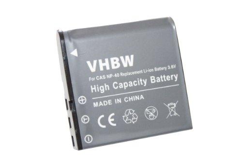 vhbw Li-Ion Akku 950mAh (3.6V) passend für Kamera BenQ, Rollei, Medion, Praktica, Agfa und Casio Exilim Serie wie NP-40.