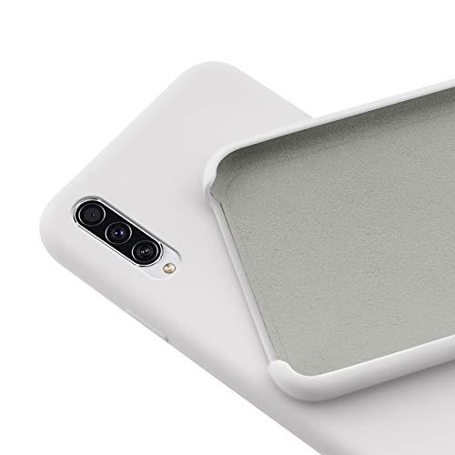 N NEWTOP Custodia Cover Compatibile per Samsung Galaxy A30S / A50 / A50S, Ori Case Guscio TPU Silicone Semi Rigido Colori Microfibra Interna Morbida (Bianca)