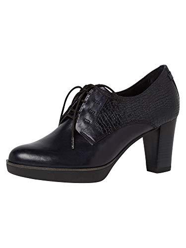 Tamaris Zapatos de tacón para mujer, con cordones, color Azul, talla 39 EU