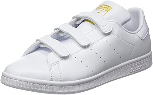 adidas Originals Herren Stan Smith CF Sneaker, Cloud White/Cloud White/Gold Metallic, 40 2/3 EU