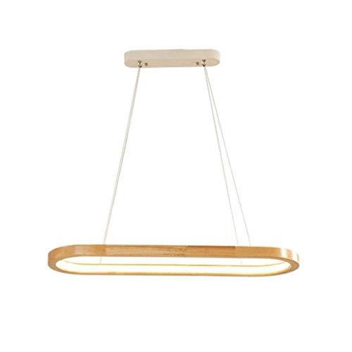NYDZ pendientes en forma de lámpara LED regulable con control remoto luz pendiente de Control de la pista de madera de la lámpara pendiente de la lámpara moderna for sala de estar Mesa de comedor de m