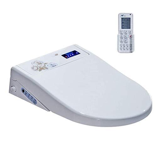 JJSFJH Cubierta de Asiento de Inodoro Inteligente, Control Remoto LED Pantalla LED Boquilla autolimpiante SPA Electrónico Limpio calefacción en seco WC Inteligente Bidé Tapa de Inodoro