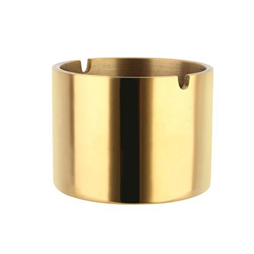 YZERTLH Cenicero Moda Creativa Engrosada 304 Cenicero de Oro de Acero Inoxidable Cenicero Personalizado Bar KTV Oficina Hogar Cenicero Ceniceros Portátiles (Size : M)
