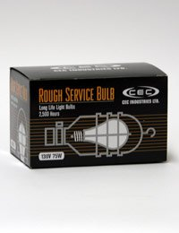 CEC Industries RSB75 (Frosted) Rough Service Bulbs, 130 V, 75 W, E26 Base, A-19 shape (Box of 6)