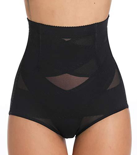 MISS MOLY Bragas Fajas Reductoras Cintura Alta Shapewear Braguitas Body Shaper Levanta Glúteo Vientre Plano Ropa Interior con Elástico Cruzado Malla para Mujer