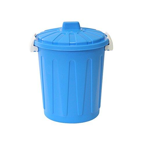 Ribelli Universaltonne Mülltonne Mülleimer Abfalleimer Deckel, beige, blau oder dunkelgrau, ca. 26 x 26 x 32 cm, 8 Liter
