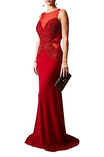 Mascara Red Mc181189 Schieren Perlenfassade Umarmtes Kleid 30