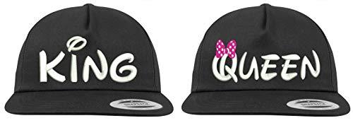Youth Designz Baseball Kappe Snapback Cap KING & QUEEN - Schwarz