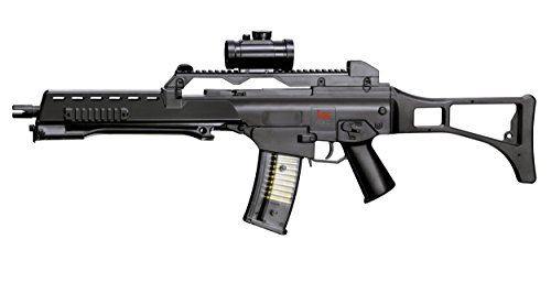 Heckler & Koch Softair Federdruck MAX. 0.5 Joule G36 Sniper Rifle Airsoft, Unisex Adulto, Negro, Talla única