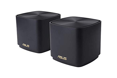 ASUS ZenWiFi Mini XD4 AX 1800 Dual Band WiFi 6 Router -2 Pack (Black) Whole Home Coverage (3300 sq ft), True 8k Streaming, AI Mesh, Alexa, Commercial Grade Security and Ai Protection