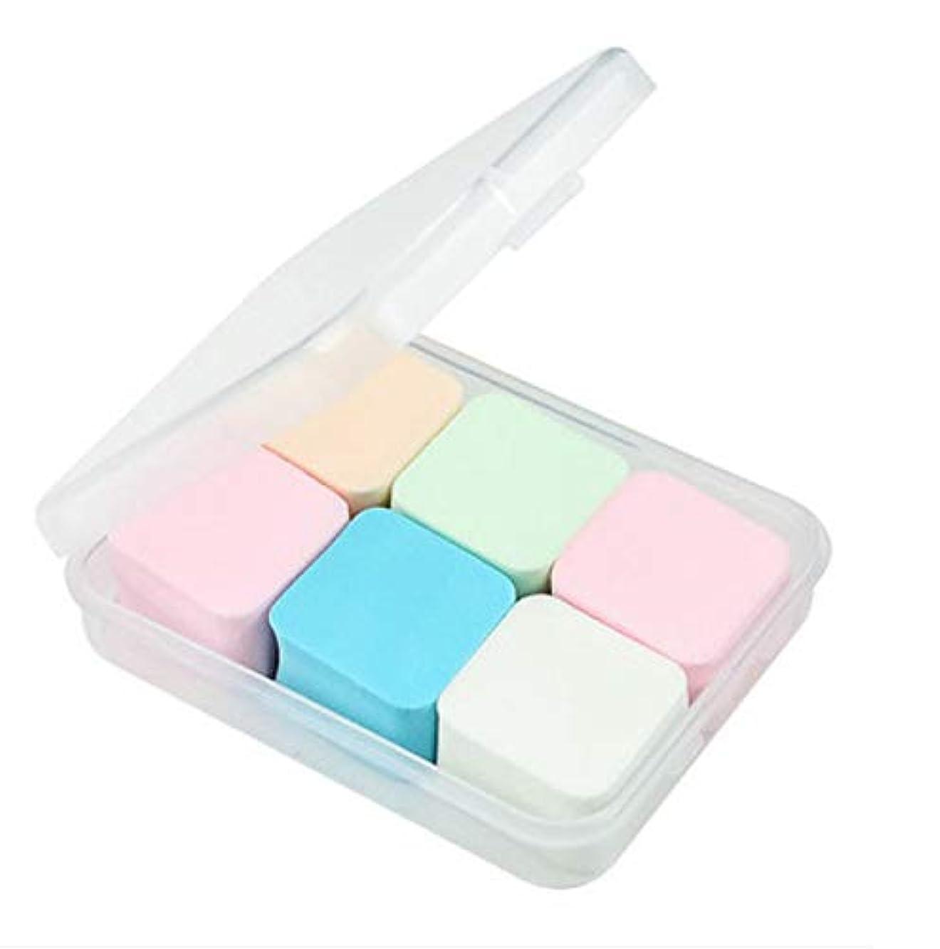 インカ帝国見物人なしで美容スポンジ、収納ボックス付きソフトダイヤモンド化粧スポンジ美容メイク卵6パック