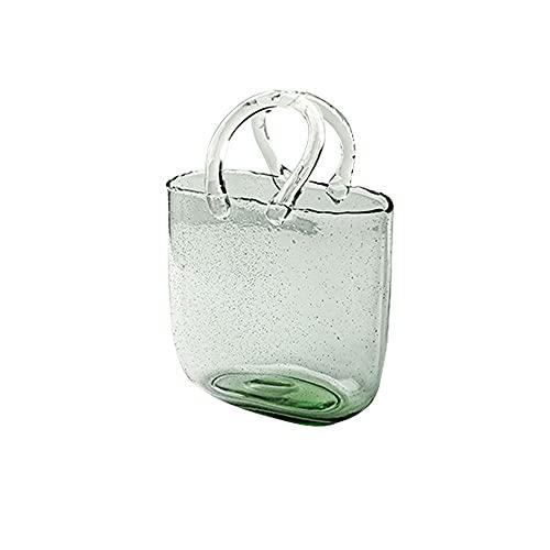 Kfhfhsdgsahp Jarrones Decorativos de Suelo, Jarrón de vidrio de bolso, jarrón de...