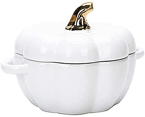 PFTHDE Cuenco Ramekins, Cuenco Redondo Apto para Horno de cerámica de 6.5 Pulgadas con Tapa, para pudines de postres de soufflé de Crema Brulee, 4 Colores a Elegir