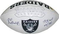 Fred Biletnikoff signed Oakland Raiders Logo Football SB XI MVP & HOF 88 (dual inscription) - Autographed Footballs