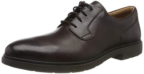 Clarks Un Tailor Tie, Zapatos de Cordones Derby para Hombre, Marrón (Ox-Blood Leather Ox-Blood Leather), 42 EU