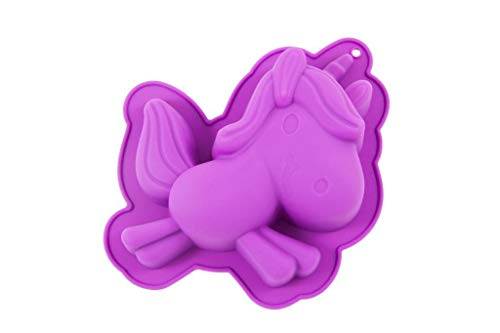 Harry Potter Z883980 - Molde de silicona con forma de unicornio, color marfil