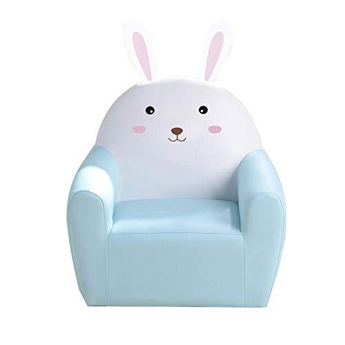 YumEIGE kruk tekenstoel, houten frame + spons + leer, konijnen, cake en stoelen, kinderstoel voor kinderkamer/woonkamer gebruik, voor kleine kinderen, 25 kg