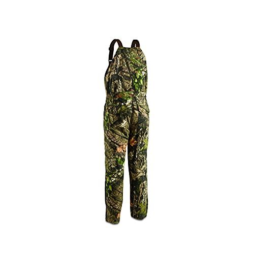 HUNTRITE Men's Camo Insulated Hunting Bibs, Mossy Oak, Large