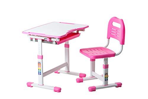 FD FUN DESK Sole Pink biurko dla dzieci z regulacją wysokości, 700 x 500 x 510 – 760 mm