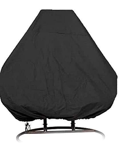 Funda para silla con forma de huevo para colgar en el patio Doble 420D Funda impermeable para silla oscilante Veranda Patio Cocoon Funda para silla con forma de huevo Funda para muebles de jardín con