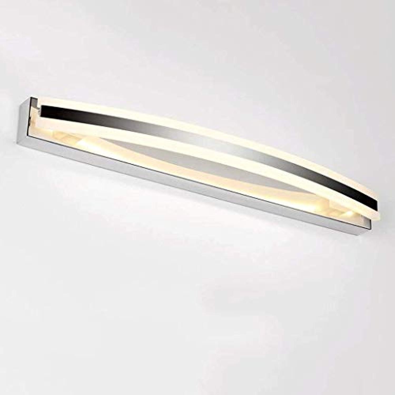 MIRROR LAMPS HOME Badbeleuchtung Wasserdicht und beschlagfrei Mode Einfach Spiegel Frontleuchte Feuchtigkeitsfest Anti-Beschlag Bad Waschbecken Energiesparspiegel für Badezimmer Scheinwerfer Make-up L