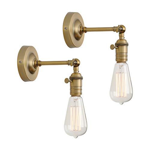 Phansthy 2 Stücke Wandbeleuchtung Wandleuchten Vintage Industrie Loft-Wandlampen Antik Deko Design Wandbeleuchtung Küchenwandleuchte (antike Farbe)