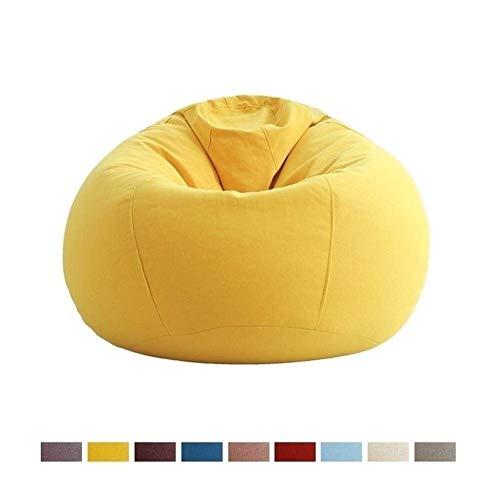 W.S.-YUE Juegos Puf Silla Perezosa del sofá Cama Estable Comfort Familia o de jardín idóneo for Juegos AAA (Color: Amarillo) (Color : Brown)