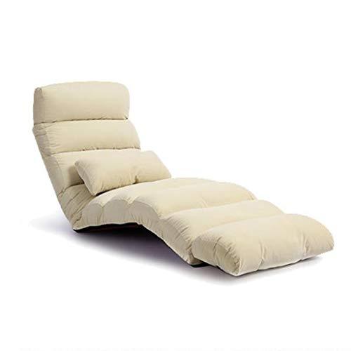 JYQ-SZRQ Silla de Suelo Espuma de Memoria Ajustable de 14 Posiciones con Respaldo Ajustable Silla for el Piso y sillón de Lectura for la meditación de Juegos (Color : Beige)