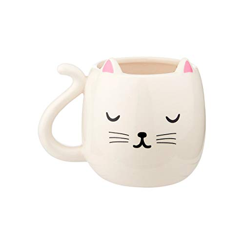 Sass & Belle Becher in Form Einer Katze Katzenform Kaffeebecher Tasse Kaffeetasse Cutie Cat Shaped Mug