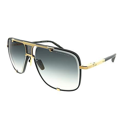 Dita Gafas de Sol MACH-FIVE Matte Black Yellow Gold/Dark Grey Shaded 64/14/127 hombre
