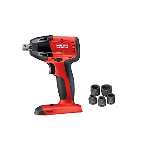 Hilti SIW 6AT-A22 22-Volt Cordless Brushless Impact Wrench with 1/2 in. Ball Detent Pin and 6 Sockets (Battery not Incl.)