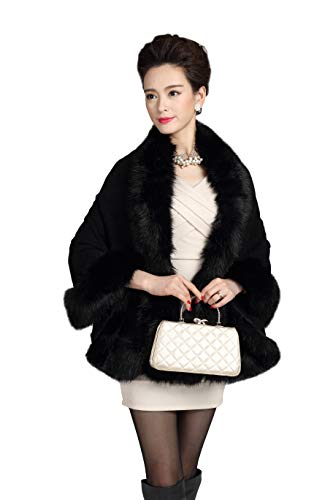 Elfjoy Luxury Bridal Faux Fur Cashm…