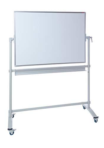 Dahle Basic Mobiles Whiteboard (120 x 180 cm Schreibfläche, magnetisch, mit Ablageschale) weiß-silber