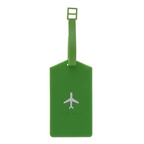 Rectángulo Plástico del Viaje Etiqueta del Equipaje Maleta Etiqueta ID Seguridad Tag...