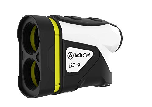 TecTecTec ULT-X Golf Rangefinder - Laser Range Finder with 1,000 Yards Range, Slope, Vibration, Easy Flagseeker and On/Off