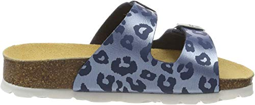 Superfit Mädchen Fussbettpantoffel Pantoffeln, Blau (Blau 84), 33 EU