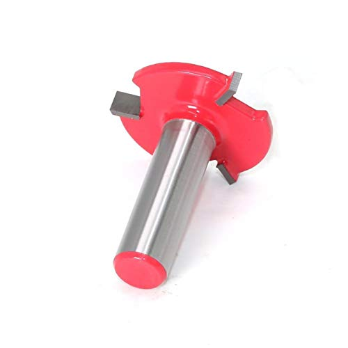 Yuhong-Molinos de Extremo 1pc 1/2'Shank 12mm Shank 3 Edge T Tipo Cortador de Ranuras, Herramienta de carpintería bits de enrutador para Madera, Grado Industrial (Cutting Edge Length : 12mm Shank)