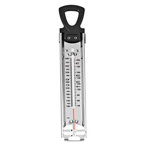 Decdeal Termometro da Zucchero,Termometro per Marmellata di Sciroppo da Cucina,Termometro per Torrone,Termometro in Vetro