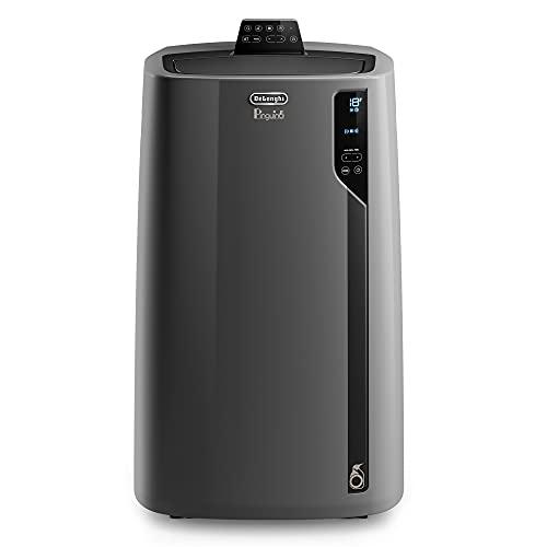 De'Longhi Pinguino PAC EL112 CST - Condizionatore portatile con tubo di scarico, aria condizionata per ambienti fino a 110 m³, deumidificatore, funzione ventilazione, timer, 24 h, nero