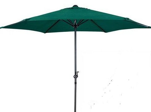 Garden Haven  Garden Patio Parasol Umbrella with Crank and Tilt (Dark Green)