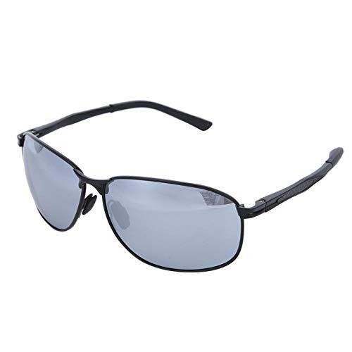 DAUERHAFT Polarisierte Sonnenbrille wasserdichte und ölbeständige Herren-Sonnenbrille Nachtsichtbrille zum Schutz der Augen(Gun Frame Ice Blue Film)