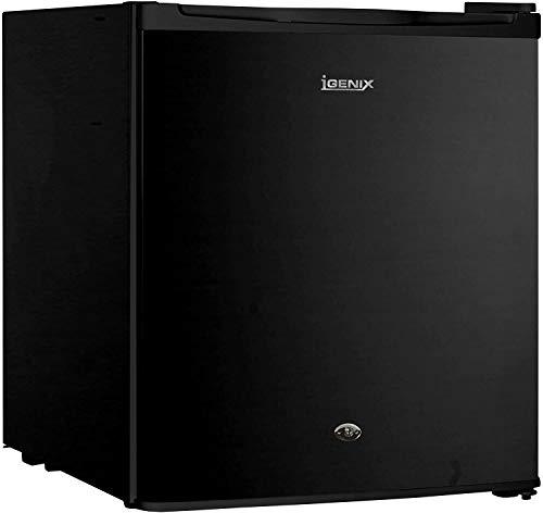 Igenix IG3711BL Table Top Fridge with 47 Litre Capacity, 4 Litre Freezer Compartment, 1 Shelf, Reversible and Lockable Door, Black