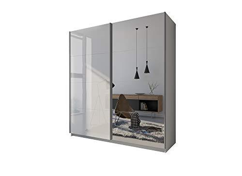 LUK Furniture Lina I - Armadio con specchio, 194 cm, con specchio, per camera da letto (194)